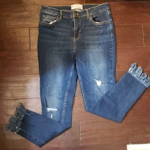 Free People Jeans Frayed Bottom